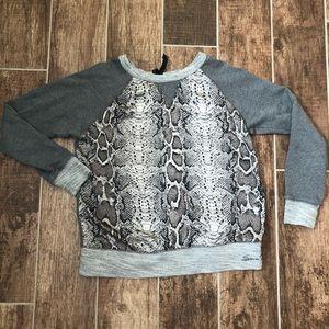 SEVEN7 Women's Shirt Sweatshirt Sz S Animal Print